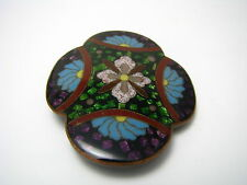 CHINESE CHAMPLEVE ENAMEL COPPER BELT BUCKLE CLOISONNE ENAMELED Asia China c1900s