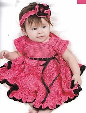 SWEET Baby Dresses in Crochet/4 Dresses/Crochet Pattern INSTRUCTIONS ONLY