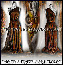 KATE MOSS TOPSHOP LTD EDITION RARE GRECIAN DARK GOLD/BRONZE MAXI DRESS 12 14 16