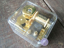 """Beauty and the Beast"" Acrylic Wind up Music Box With Sankyo Musical Movement"