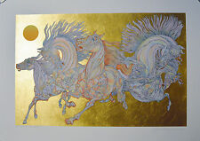 GUILLAUME AZOULAY SERIGRAPH LEVER DE SOLEIL SIGNED #9/50 W/COA
