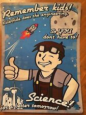 Tin Sign Vintage Fallout Science! For A Better Tomorrow