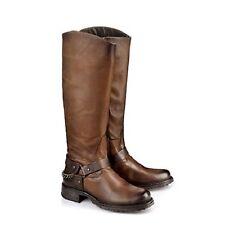 Buffalo Damen Biker Boots Leder cognac-farben 39 Neu ES 30503 H15915