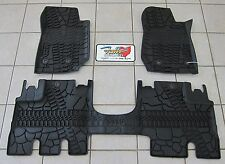 2014-16 Jeep Wrangler JK Unlimited RHD All Weather Rubber Slush Floor Mats Mopar