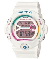 Casio Baby-G * BG6903-7C Rainbow & White Resin Runners 60 Lap Watch COD PayPal