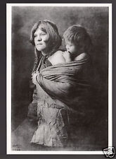 HOPI INDIAN TRIBE MOTHER AND CHILD Edward S. Curtis Portrait MODERN POSTCARD