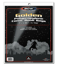 25 BCW Golden Comic Book Bags - Sleeves