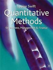 Quantitative Methods for Business, Management and Finance
