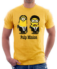 PULP MINION FICTION parody funny yellow cotton t-shirt 9822
