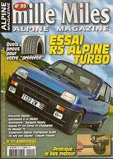 MILLE MILES 99 RENAULT 5 ALPINE TURBO ALPINE A450 MICHELIN TOUR DE CORSE 1973