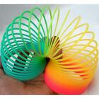 "Colorful Rainbow Plastic Magic Spring Glow-in-the-dark Slinky Childrens Toy 3"" #"
