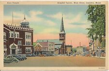 Hospital Square Main Street Lewiston ME Postcard