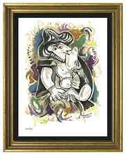 "Pablo Picasso Signed & Hand-Numbered Limited Edition ""The Kiss"" Lithograph Print"