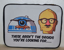 STAR WARS NOTEBOOK / IPAD COVER * FUNNY C3PO & R2D2 *
