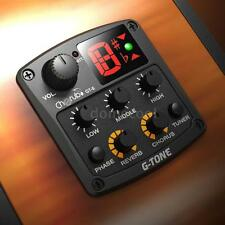 Acoustic Guitar Preamp Piezo 3-Band EQ Equalizer with Reverb/Chorus Effect V9W8