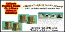 Industrial Roof Vents-Large (4pcs) N/Nn3/1:160-Scale California Freight & Detail