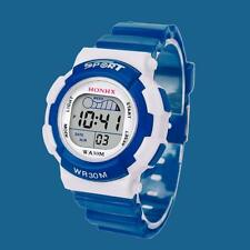 Children Boys Digital LED Sports Watch Kids Alarm Date Waterproof Watch Gift Y4