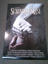Schindler's List 1993 (Double Sided) Original 1 Sheet Movie Poster Rolled