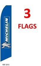3 (three) MICHELIN 11.5' SWOOPER #3 FEATHER FLAGS BANNERS