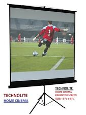 8 Ft. X 6 Ft. WITH TRIPOD STAND TECHNOLITE HOME CINEMA PROJECTOR SCREEN,