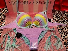 Victorias Secret Gorgeous  Push-Up Swimsuit Sequin 32C Small