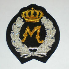 M Letter Family Name Jacket Robe Coat Monogram Initial Cipher Royal Patch Name