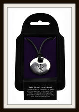 VIKING SAFE TRAVEL BIND RUNE PEWTER PENDANT ~ FROM ST. JUSTIN ~ FREE P&P