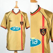 UMBRO GALATASARY AWAY FOOTBALL SOCCER SHIRT JERSEY 2002 - 03 SHINY GOLD TURKEY L