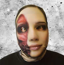 3D EFFECT PEELED FACE SKIN LYCRA FABRIC FACE MASK HALLOWEEN HORROR L&S PRINTS