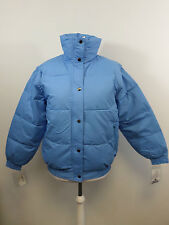 Ellis Brigham Super Down Ski Jacket Pale Blue Zip Off Sleeves Size M 14 UK