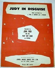 """JOHN FRED & PLAY BOY BAND """"JUDY IN DISGUISE"""" ORIGINAL SHEET MUSIC FROM 1968"""