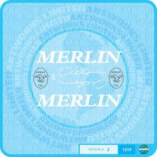 MERLIN USA CIELO Decalcomanie Bicicletta Trasferimenti Adesivi-Set 2-Bianco