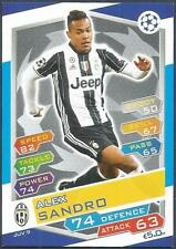 TOPPS MATCH ATTAX CHAMPIONS LEAGUE 2016-17 #JUV09-JUVENTUS-ALEX SANDRO