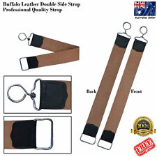 LEATHER BARBER STRAIGHT CUT THROAT RAZOR BLADE KNIFE SHARPENING STROP BELT