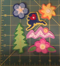 Layered Felt with Button Alaska Theme Stickers - Acid & Lignin free - Scrapbook