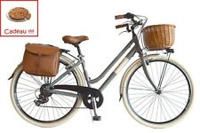 FR VV Beach Cruiser Retrò Vélo de Ville Vèlo américain femme Vintage alum gris