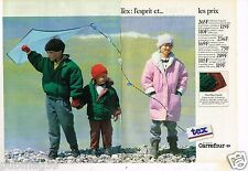 Publicité advertising 1986  (2 pages) Les Vetements pour enfants TEX Carrefour