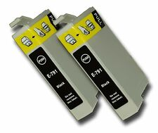 2 Black Compatible Non-OEM T0791 'Owl' Ink Cartridge with Epson Stylus PX820FWD