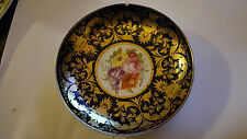 Crown Derby Shallow Bowl Circa 1820 - Handpainted and Gold Gilt