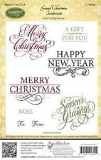 JUSTRITE CLING Rubber Stamps GRAND CHRISTMAS SENTIMENTS CL-04690 Seasons Noel