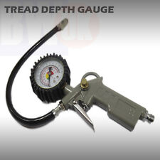 CAR CYCLE TYRE TIRE AIR INFLATOR DIAL PRESSURE DEPTH METER GAUGE COMPRESSOR TY16
