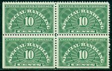 SCOTT # QE-1a BLOCK OF 4, MINT, OG, NH, VERY FINE, 3 STAMPS SE, GREAT PRICE!