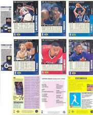 8 X De Basquetbol Collector's Choice Tarjetas-Vlade Divac, Ervin Johnson, Marca Precio
