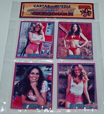 THE DUKES OF HAZZARD Daisy SET 4 METAL CARD PUZZLE COLLECTIBLE ARGENTINA SEALED