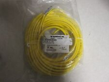Turk RKV-61-20m #18 AWG cable, Yellow PVC Jacket 6 Pin Female 20 meter Mini Fast