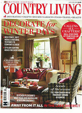 COUNTRY LIVING,  JANUARY, 2016 (  DECORATE FOR WINTER DAYS * AWAY FROM IT ALL )