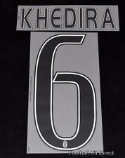Juventus Khedira 6 Football Shirt Name/Number Set Kit Home Serie a 2015/16/17