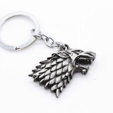 Keychain / Porte-clés - Game of Thrones House Stark Head 3D - Silver