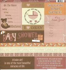 MOXXIE -  Girl Accents Journal Scrapbooking Paper 1076 Double Sided Baby