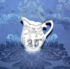 Pfalzkeramik Germany Creamer Small Pitcher Floral Speckled White Milk Container